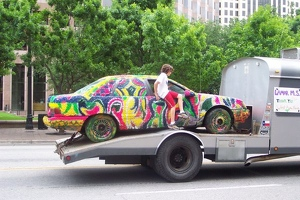 Lamar Middle School's Multicolor Car