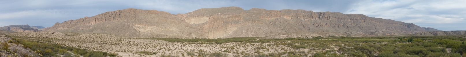 Boquillas Canyon Overlook panoramic