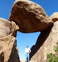 The balanced rock is pretty big