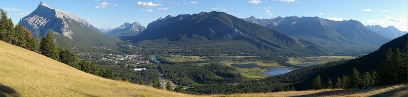 Panoramic view from Mt. Norquay overlook