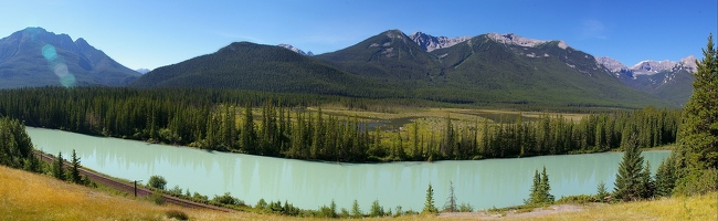 Panoramic view from Bow Valley Parkway