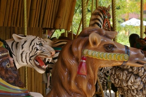 Carousel tiger and camel