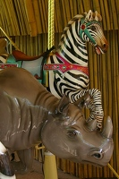 Carousel rhino and zebra